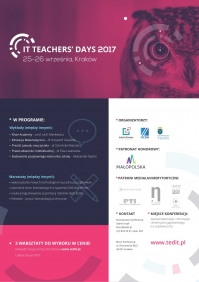 Konferencja edukacyjna IT Teachers' Days 2017
